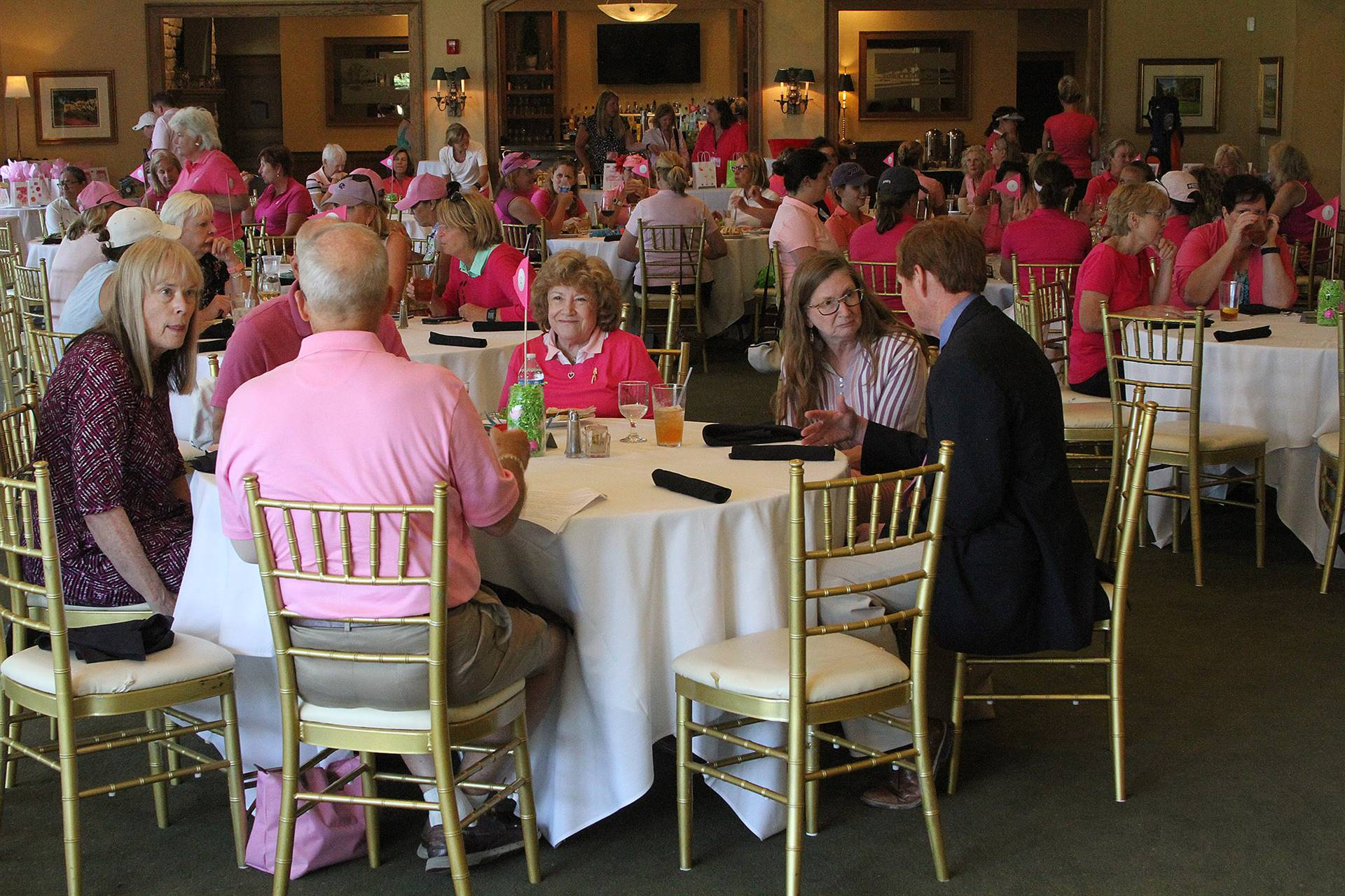 Attendees enjoying the luncheon